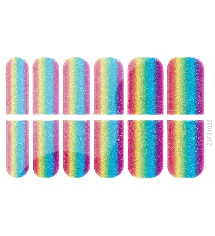 Rainbow Metalix Nail Wraps