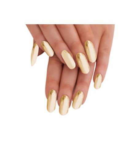 Plain Gold Nail Metalix Sheet