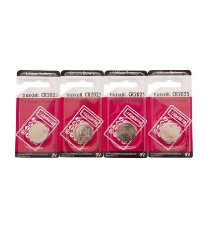 Pack of 4 - 3V CR2025 Lithium Batteries