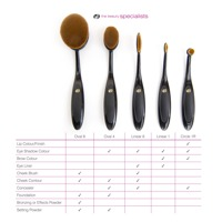 Essential  Microfibre Professional Oval Cosmetic Brush Collection