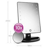 RIO 21 LED TOUCH DIMMABLE MAKEUP MIRROR thumbnail