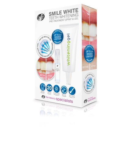 Smile White, Teeth Whitening Pre-Treatment Spray and Gel